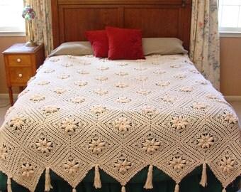 Curlicue Coverlet Crochet Pattern PDF