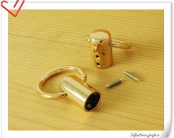 6pcs Golden cord cap end stopper Rope stopper  belt stopper For 12mm cord AC32