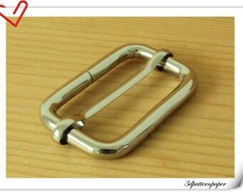 1.5 inch (inner diameter) nickel rectangle strap adjuster  slider for bags fingdings 10pcs per bag purse findings U37