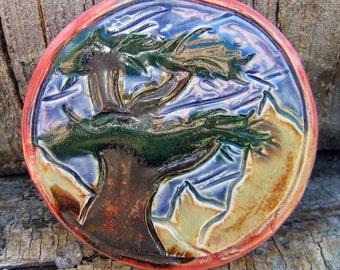 Round Decorative Tree Tile