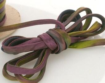 "1/4"" Silk Cord 3 yds Hand Dyed Deep Abalone"