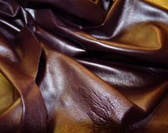 Pearlized Bordeaux - Soft as butter -  Italian lambskin -a 6 plus square feet hide