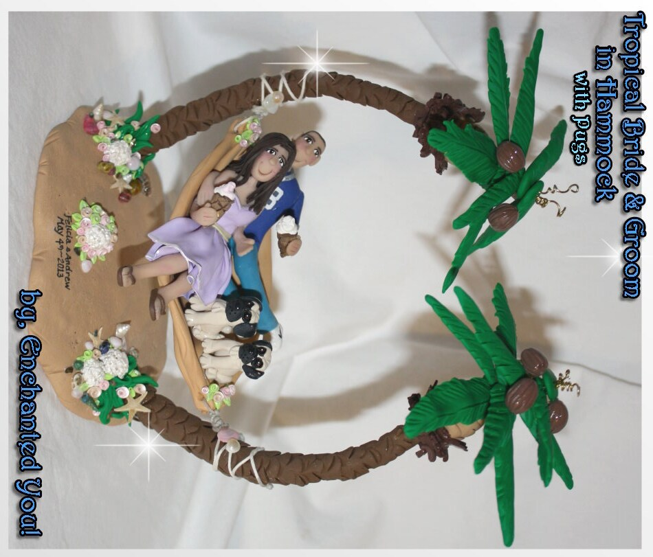 Make Your Own Wedding Topper: Wedding Cake Topper Tropical Bride And Groom By