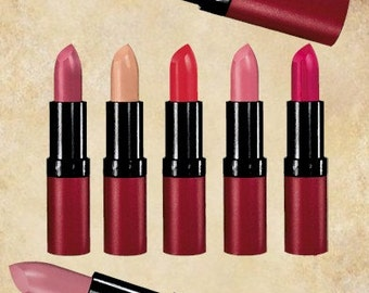 lipstick tubes makeup clip art digital graphic for scrapbooking altered art greetings cards etc personal and commercial use