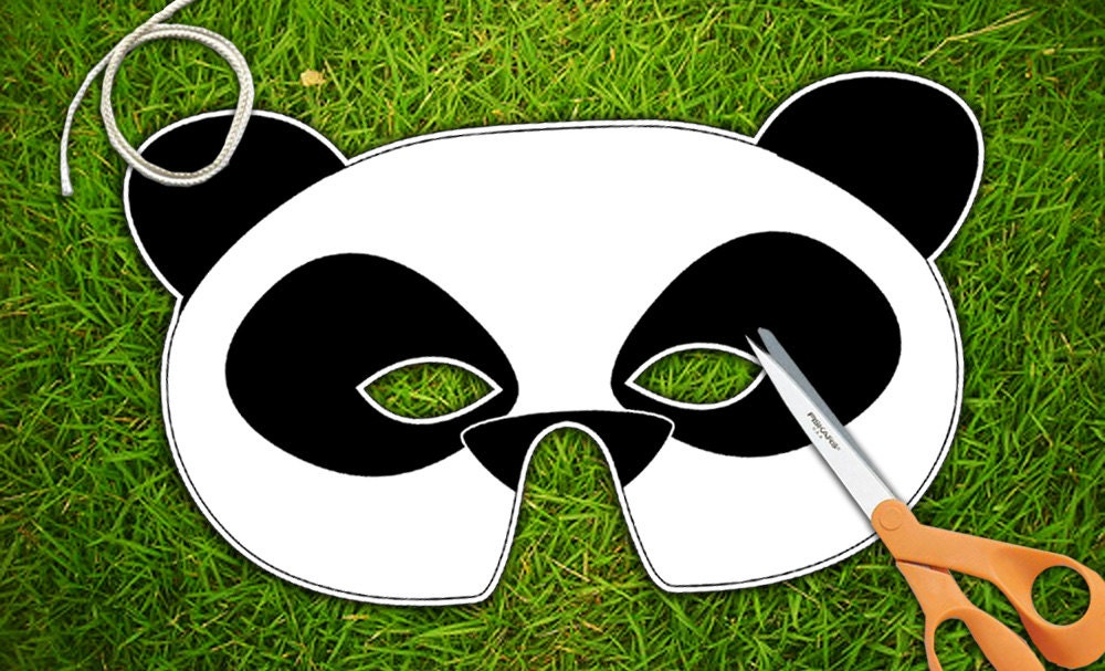 Panda Bear Printable Mask Panda Bear Halloween by theRasilisk