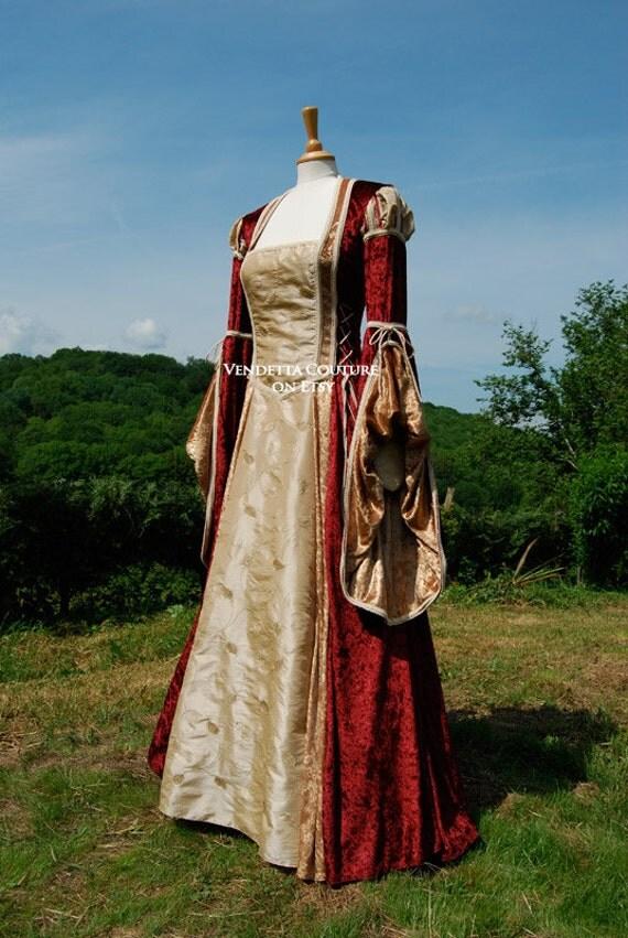 SALE** Tudor Inspired Romantic Fairytale Gown Dress Size Medium-Large