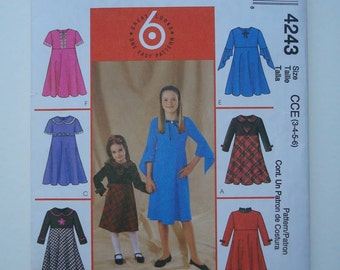 McCall's 4243 - Sewing Pattern for Children's and Girls' Dresses - New and Uncut