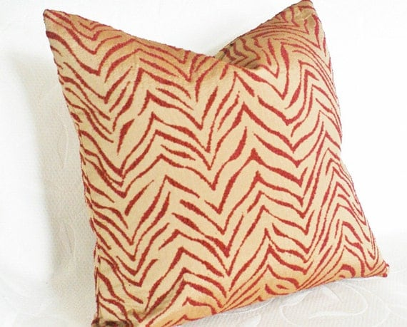 Zebra Decorative Pillows : Zebra Print Pillow Decorative Throw Pillows by PillowThrowDecor