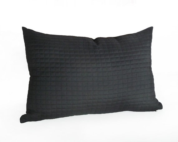 contemporary black lumbar pillow solid black accent pillows With black lumbar throw pillows