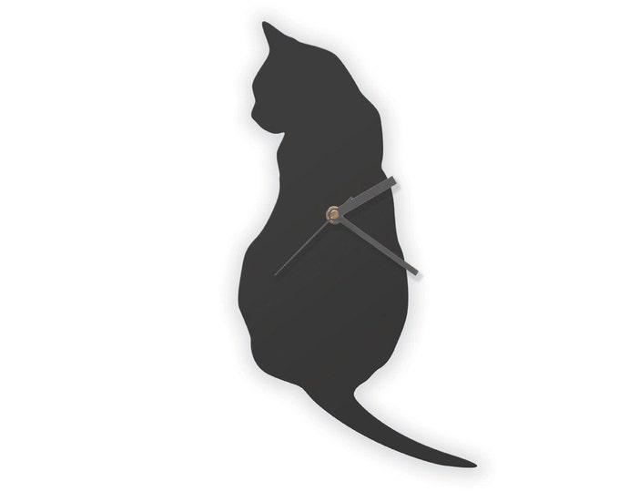 Black Cat Clock, Cat Wall Clock
