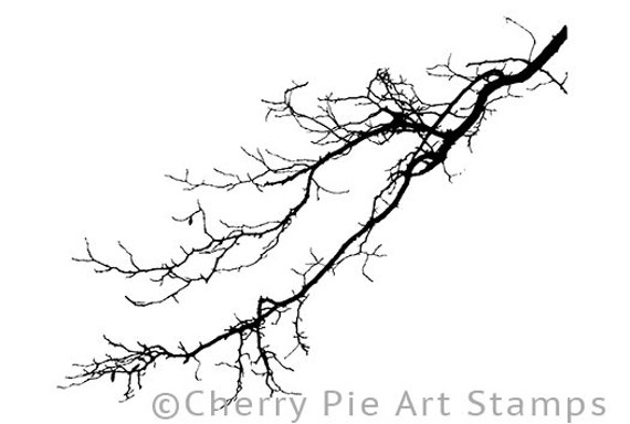 Items Similar To Winter Tree Branch Cling Rubber Stamp By