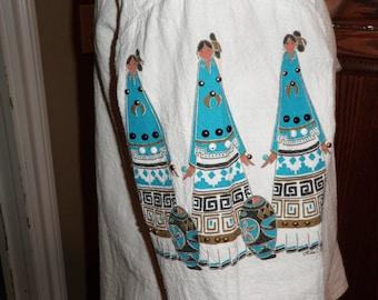 Vintage Lida Screenprinted Embelleshed Skirt and Top