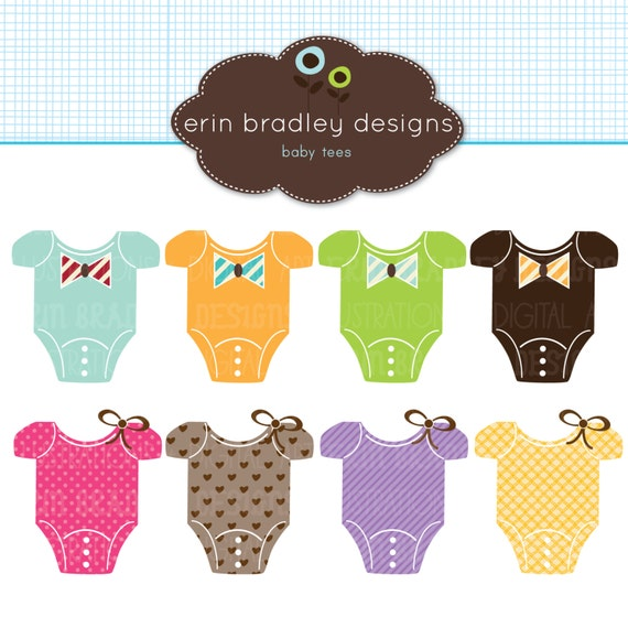Baby Tees Clipart Clip Art Personal & Commercial Use
