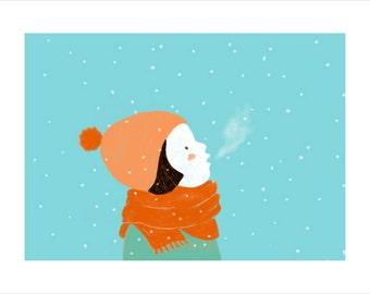 orange hat girl