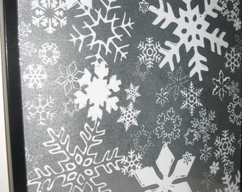 Flakes ..Magnet Dry Erase Memo Board / Housewarming Gift / Office Decor / Organization / Wall Decor / Desk / Message Memo Board / Coworker