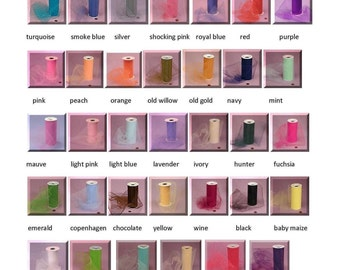 Fabric Samples - tulle or satin samples in your choice of colors - choose up to 10 - fabric swatch