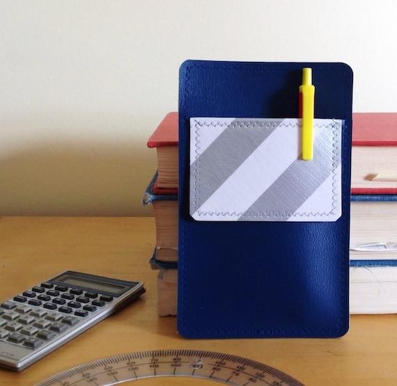 Nerd Power Vinyl Pocket Protector In Deep Blue Matte By