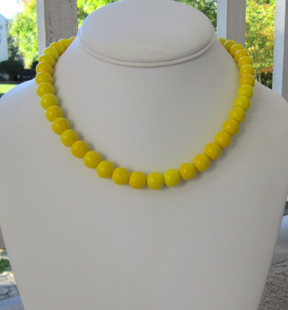 Yellow Necklace Chunky Statement, Sunny Day