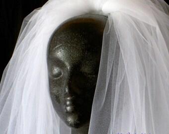 Short Veil, Bouffant Classic Veil, 3-Tier Veil, Waist/Elbow Length Veil, Cut Edge Veil, Handmade Veil, Custom Veil, Vintage Inspired Veil