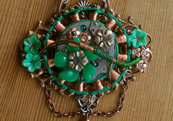 Woodland Winding Copper Statement Necklace