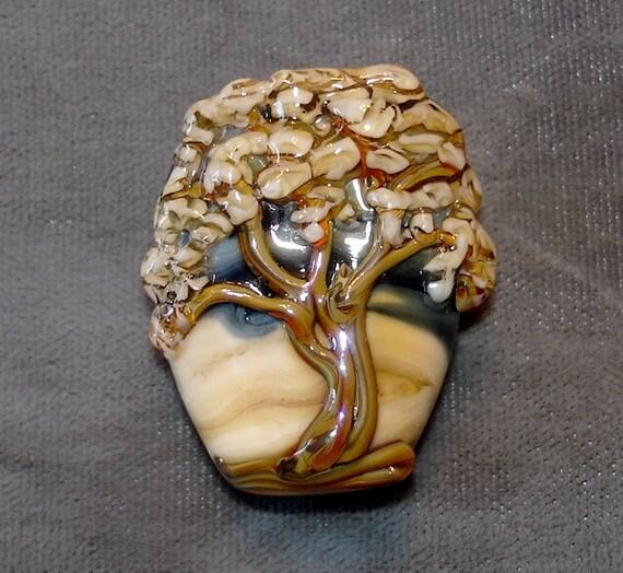 Tree of Life handmade Glass Lampwork bead