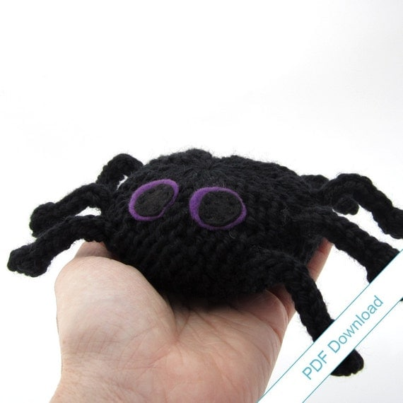 Spider Knitting Pattern PDF. Knit Your Own Toy Spider.