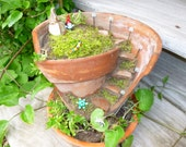 Glass Fairy garden accessories, garden path solar light (one), Made to order