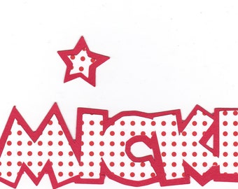 Disney MICKEY Mouse Paper Piecing Title - Red/White or Red/Black Dots, Disney World