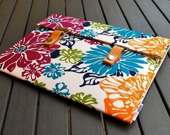 11 MacBook Air Case Laptop Sleeve / 13 inch laptop sleeve / Padded 13 Macbook Case - Springtime Brights