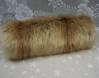Faux Fur Hand MUFF, Women's Hand Muff, Faux Fur Muff,  Handmuff, Long Fur Muff, Fox Gold Tip Fur Muff
