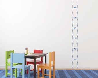 Ruler Growth Chart Decal 1x6 Wood Ruler  DB180