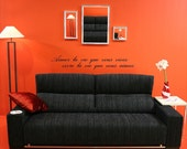 French Translation Love The Life You Live, Live The Life You Love French Translation vinyl wall decal