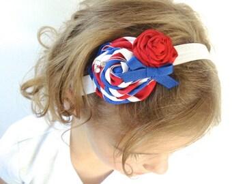 4th of July Rose Headband, Custom Size