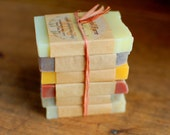 Organic Soap Samples - 6 samples for travel, guests or gifts - vegan, natural and botanical