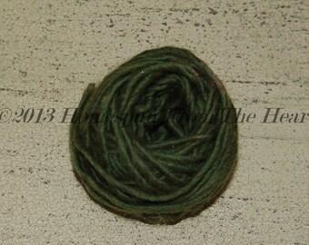 Avocado dark green Wool Doll Hair, prim witch doll hair, primitive halloween witch hair, doll making supplies