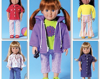 DOLL CLOTHES PATTERN For American Girl Dolls / Great For Julie -Saige - McKenna