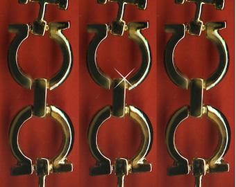 Vintage 10 Gold Plated Fancy Art Deco Connectors 56X18MM  J1L