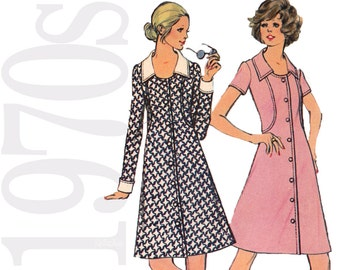 Vintage Sewing Pattern - Misses Dress Sewing Pattern - 1970s Vintage Dress Pattern - 36 Bust Sewing Pattern - Uncut, FF