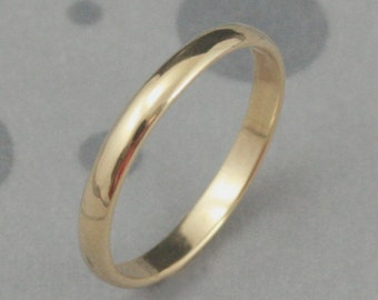 Gold Rings for Women~2.5mm Wide Band~14K Gold Ring~Half Round Ring~Traditional Ring~Simple Rings for Women~Women's Wedding Band~Men's Ring