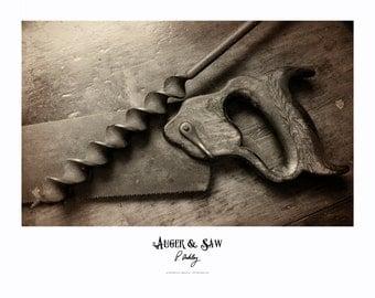 "Wood shop print ""Auger & Saw"""
