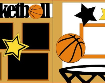Basketball 2-page 12x12 do-it-yourself scrapbook kit