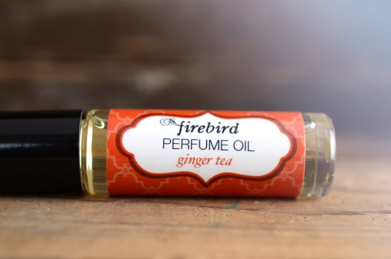 Ginger Tea Perfume Oil, Spicy Ginger, Charred Cedar, Black Tea, Roll On Perfume