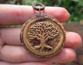 RESERVED for Catherine LISTING- Tree Necklace- Tree of Life Necklace- Wooden Necklace Carved in Reclaimed Hickory