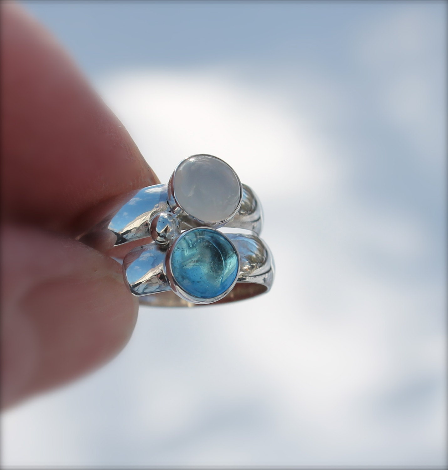 Birthstone Ring Stone Ring Two Stone Fairy Tale Ring
