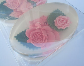 Rose Art Soap Set, 2 giftboxed, any color