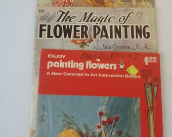 3 Vintage How to Art Books Walter Foster How to Paint Flowers and Designs to Copy Craftint