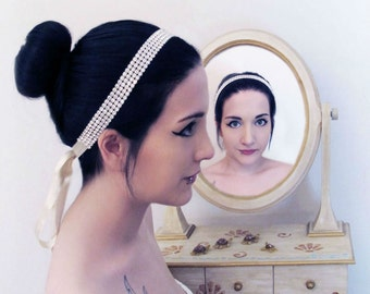 Rhinestone Beaded  Bridal Wedding Headband Wedding Accessories Headpiece Head Piece