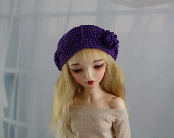 purple bjd hat for minifee ball jointed doll