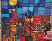 Contemporary Cross Stitch,  Cross Stitch Kit, 'Tango' By Dora Ficher, Modern Art Stitching Pack, Vibrant Cross Stitch,  Point De Croix