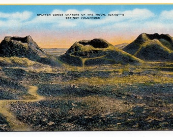 Spatter Cones Craters of the Moon Idaho Vintage Antique 1940's